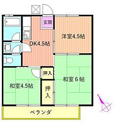 東京ハイツ[202号室]の間取り