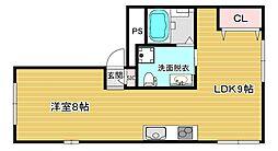 JR大阪環状線 野田駅 徒歩5分の賃貸マンション 1階1LDKの間取り
