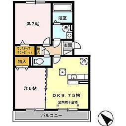 スタースレイプ[1階]の間取り