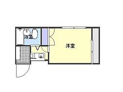 石川ハイツ[3階]の間取り