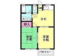 サングリーン和田山102[207号室号室]の間取り