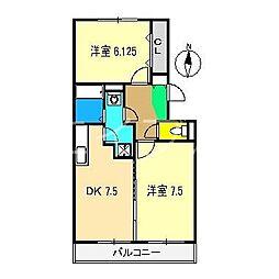 高知県高知市杉井流の賃貸アパートの間取り