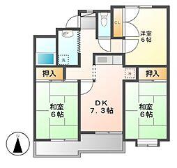 サンサーラキトー2[4階]の間取り