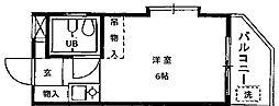 シャレー都立大カワベ第5[201号室]の間取り