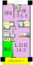 レジディア東松戸[2階]の間取り