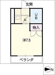 プレジデント木村[3階]の間取り