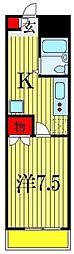 メゾン プレステージI[1階]の間取り