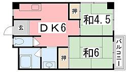コーポ松本[303号室]の間取り