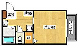 大阪府堺市西区鳳北町2丁の賃貸アパートの間取り