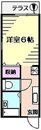 木村ハイツ[1階]の間取り