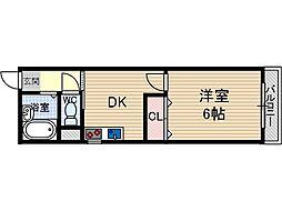 コーポ平尾[2階]の間取り