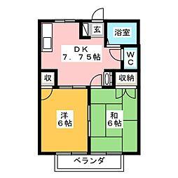 シャトル8[2階]の間取り