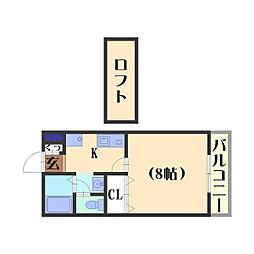 多蔵courtII[212号室]の間取り