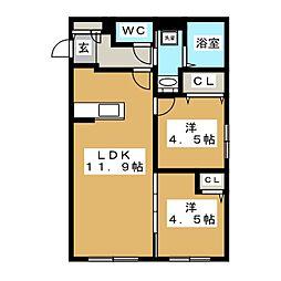 Luxe Maruyama(ラグゼマルヤマ)[4階]の間取り