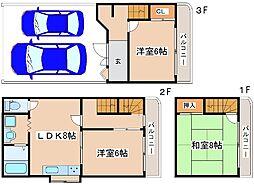 [テラスハウス] 兵庫県明石市東山町 の賃貸【/】の間取り