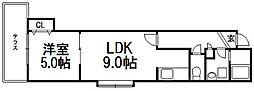 桜ガーデン[101号室]の間取り