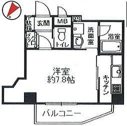 フォーチュン天王寺[2階]の間取り
