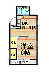 9番地ハウスII[2階]の間取り