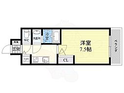 S-RESIDENCE江坂Eminence 13階1Kの間取り