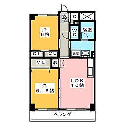 サルナート藤枝[2階]の間取り
