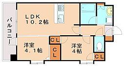 クリスタル&リゾートスカイプレミア[3階]の間取り