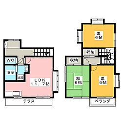 八幡4丁目貸家[2階]の間取り