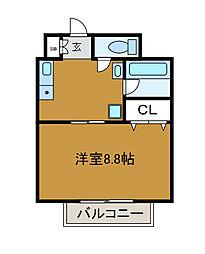 神奈川県相模原市南区相模大野6丁目の賃貸マンションの間取り