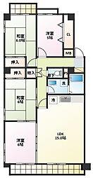 インテリジェント高間台II号館[3階]の間取り