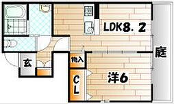 サングレイス B棟[1階]の間取り