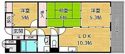 アビタシオン長尾駅前[4階]の間取り
