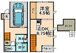[テラスハウス] 兵庫県伊丹市西台2丁目 の賃貸【/】の間取り