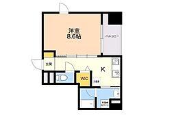 (仮)平尾1丁目マンション 6階1Kの間取り