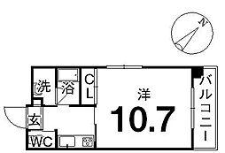 ルスト柳井町II[701号室]の間取り