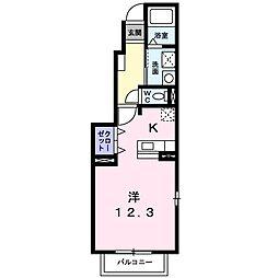 愛知県名古屋市中川区川前町の賃貸アパートの間取り