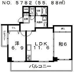 エクセレント・フジ[6階]の間取り