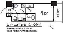 エスリード福島グレイス[7階]の間取り