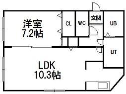 R−FREE菊水元町[303号室]の間取り