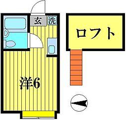 キャピタル八柱[208号室]の間取り