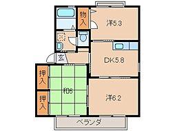 フォーシーズン和歌山III[2階]の間取り
