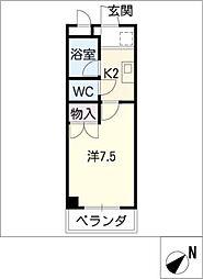 ラポ−ルYamada[1階]の間取り