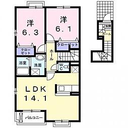 DESPACIO K[2階]の間取り