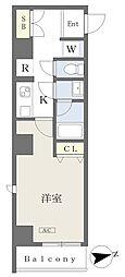 (仮)大田区大森北二丁目計画 5階1Kの間取り