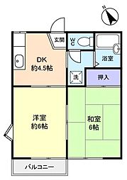 ベルハイム八千代台[2階]の間取り