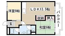 愛知県尾張旭市大塚町3丁目の賃貸アパートの間取り