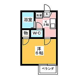 MYルームI[1階]の間取り
