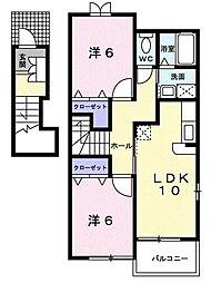 エテルノ ハウス[0201号室]の間取り