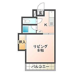 サクセスマンション[301号室]の間取り