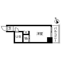 TOP・仲木戸第1[0604号室]の間取り