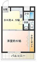 東京都世田谷区代田3丁目の賃貸マンションの間取り