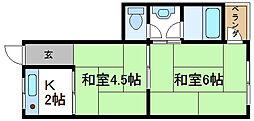 RIZEONE平野[311号室]の間取り